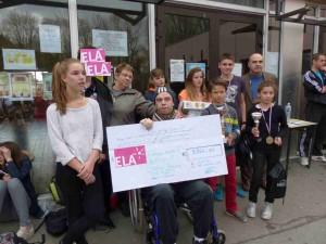Remise du chèque ELA 2015