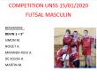 Compétition futsal Masculin 15.01.2020