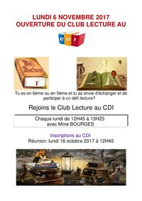 Club Lecture Affiche v