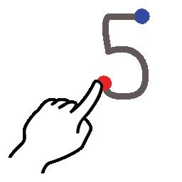 stroke number five gestureworks