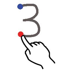 stroke number three gestureworks