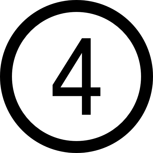 number-four-in-circular-button