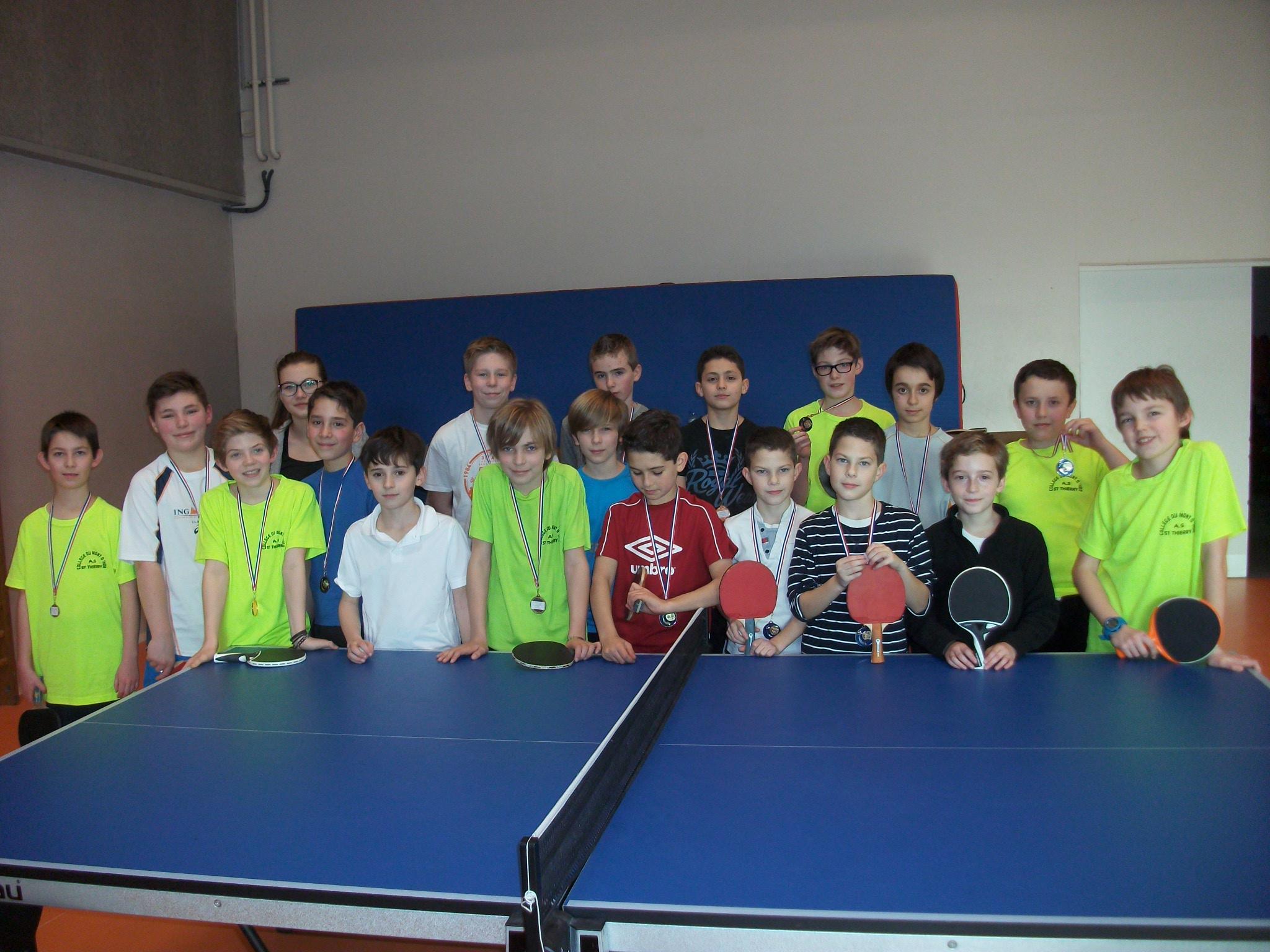 Eps section volley clg pu du mont d hor st thierry - Champion de tennis de table ...