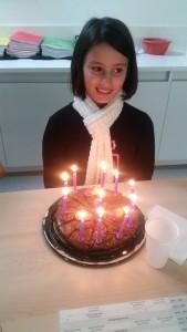 Le 17 mai, nous avons souhaité l'anniversaire à Dilek. Elle a eu 11 ans.