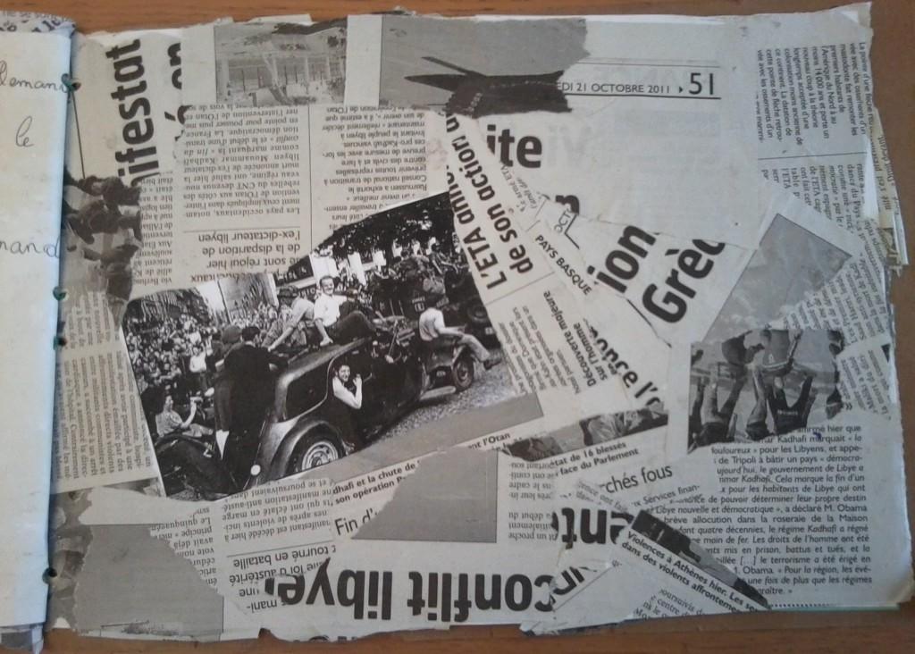 Une scène de liesse à Paris, le jour de la Libération.