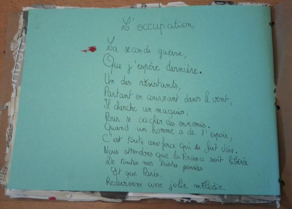Un poème, message d'espoir.