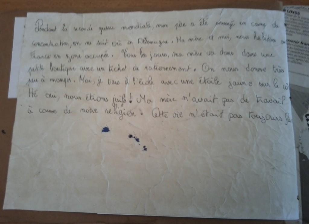 Une enfant raconte son quotidien sous l'Occupation.