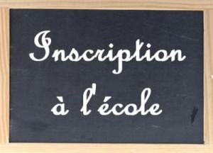 inscription ecole