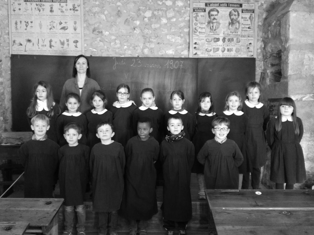Et nous avons quand même fait une photo de classe mixte!
