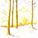 Paysage hiver m h Huet