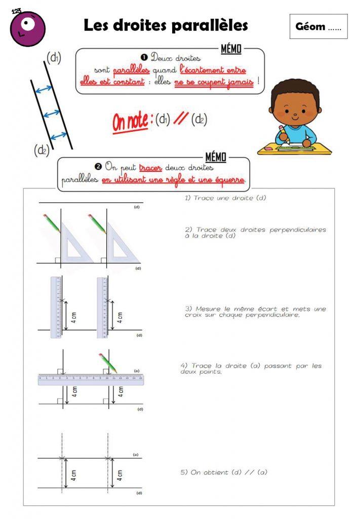 Geom3 Les Droites Paralleles Ecole Primaire Publique Pommery Reims