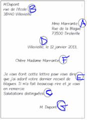 Ecrire Une Lettre Ou Un Courrier Cm1 Cm2 Ecole Primaire Publique Pommery Reims