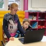 Maëva et Bryann sur le projet d'écriture du livre numérique : Pierre et le loup