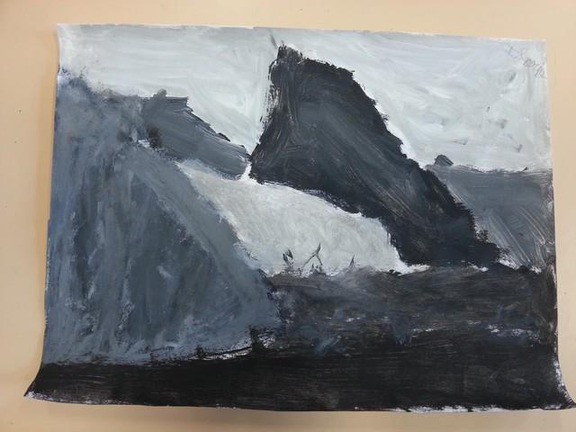 Paysages de collines en d grad de gris ecole primaire - Bureau des paysages alexandre chemetoff ...