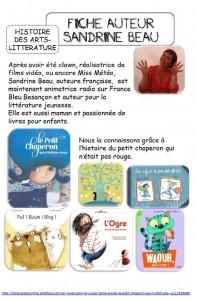 Fiche auteur Sandrine Beau